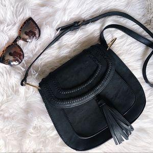 Franco Sarto Gray Tassel Crossbody Bag